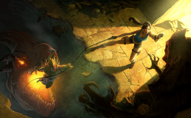 Adventures of Lara Croft Key Art
